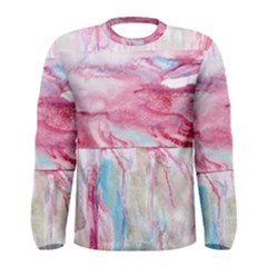 Abstract Marbling Men s Long Sleeve Tee by meanmagentaphotography