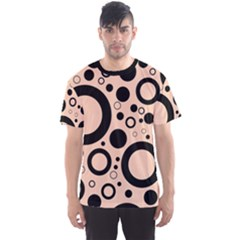 Circle Party Collection - Soft Apricot Orange & Black Men s Sport Mesh Tee