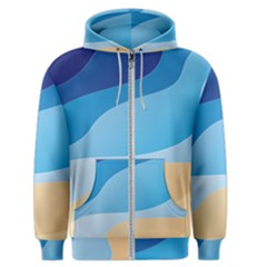 Illustrations Waves Line Rainbow Men s Zipper Hoodie