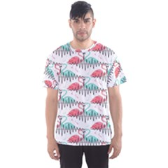 Music Flamingo Men s Sport Mesh Tee