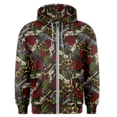 Hustle Hard Dragonfly Pattern Men s Zipper Hoodie