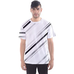 High Contrast Minimalist Black And White Modern Abstract Linear Geometric Style Design Men s Sport Mesh Tee