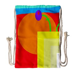 Colorful Abstraction Drawstring Bag (large)
