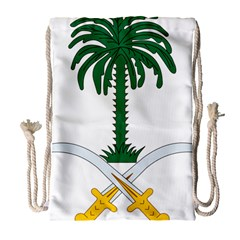 Emblem Of Saudi Arabia  Drawstring Bag (large)