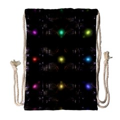 Abstract Sphere Box Space Hyper Drawstring Bag (large)