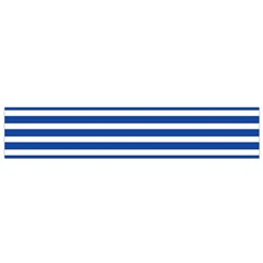 Horizontal Stripes Dark Blue Flano Scarf (small) by Mariart