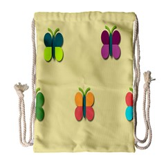 Spring Butterfly Wallpapers Beauty Cute Funny Drawstring Bag (large)