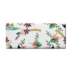 Floral Backdrop Pattern Flower Hand Towel