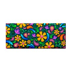 Floral Paisley Background Flower Green Hand Towel