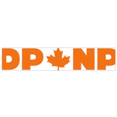 Logo Of New Democratic Party Of Canada Small Flano Scarf by abbeyz71