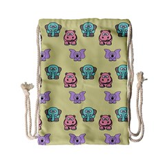 Animals Pastel Children Colorful Drawstring Bag (small)