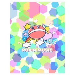 Pop n Music Drawstring Bag (large) by concon