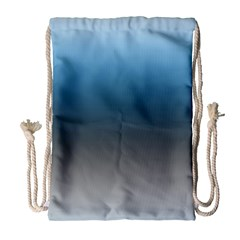 Sky Blue And Grey Color Gradient Ombre Drawstring Bag (large)