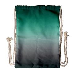 Teal Green And Grey Gradient Ombre Color Drawstring Bag (large)
